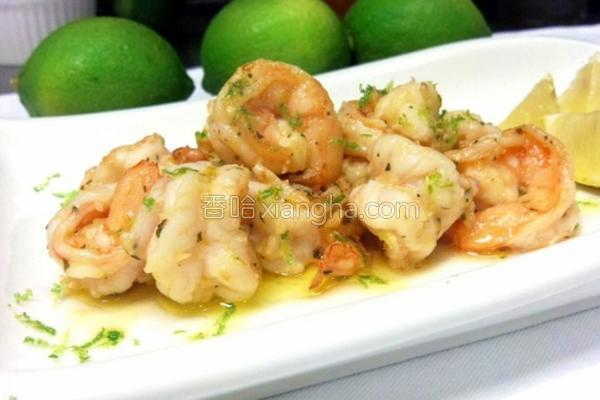 蒜头奶油柠檬炒虾的做法