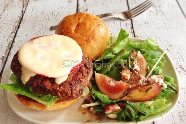 红腰豆汉堡的做法