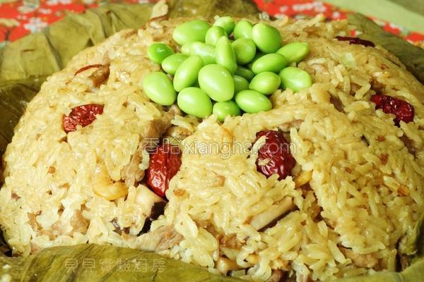 荷叶糯米饭的做法