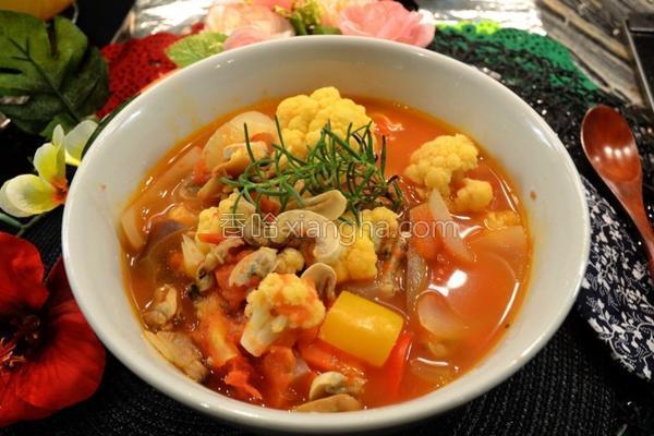 意式番茄蔬菜汤的做法