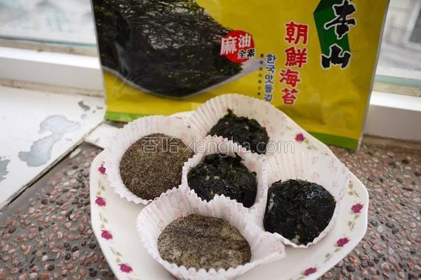 海苔麻糬的做法