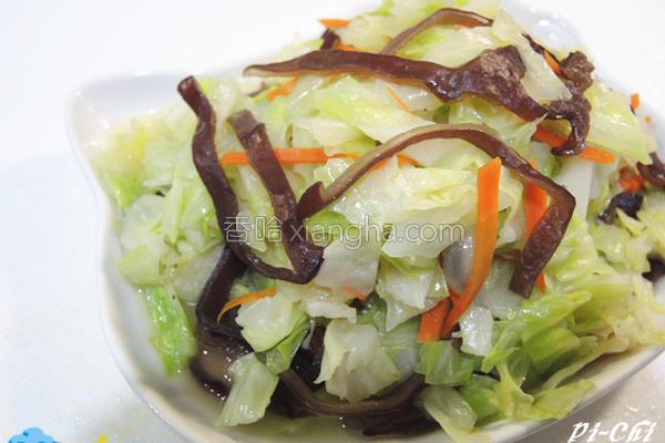 黑木耳高丽菜的做法
