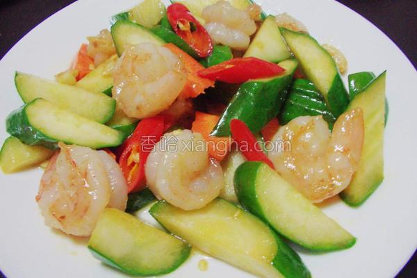 鲜虾脆瓜的做法