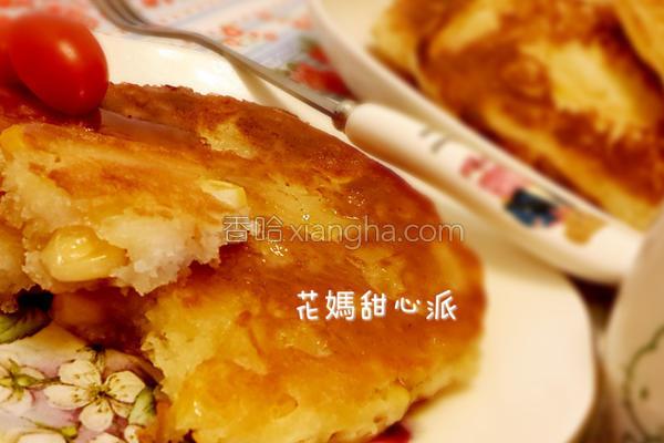 炼乳玉米煎饼的做法