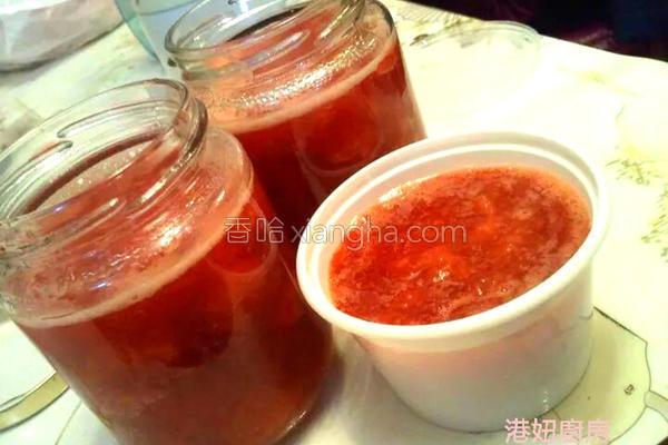 果粒草莓果酱的做法