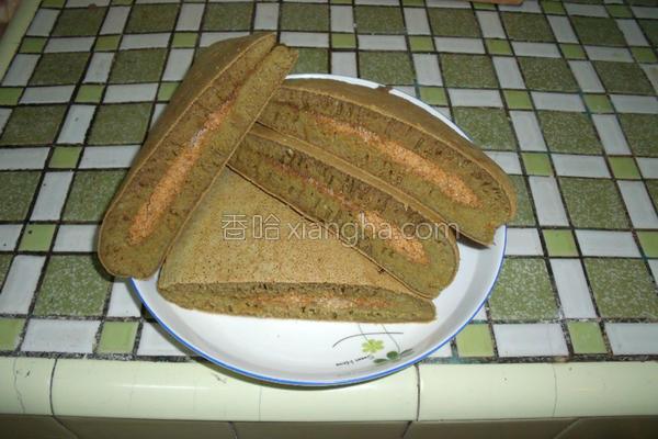 抺茶花生煎饼的做法