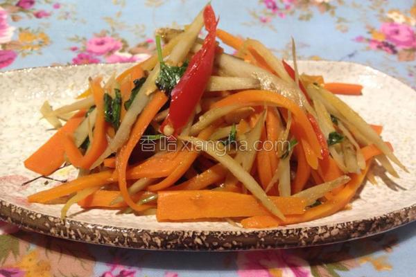 塔香辣萝卜牛蒡丝的做法