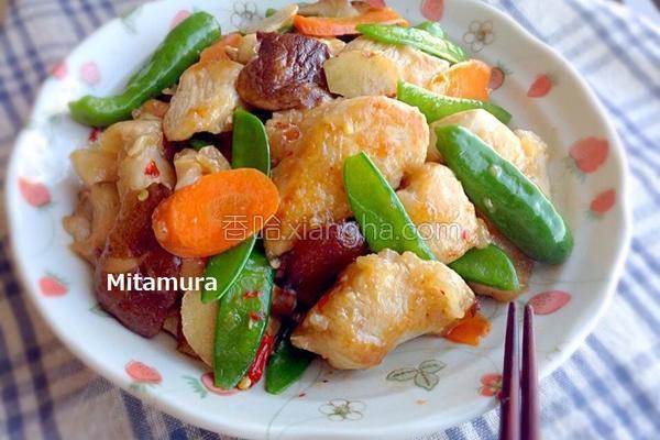 鸡胸肉炒鲜蔬的做法