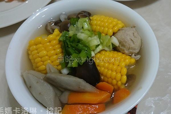 高纤牛蒡蔬菜汤的做法