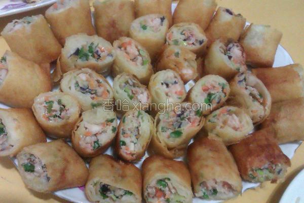 鲜虾春卷的做法