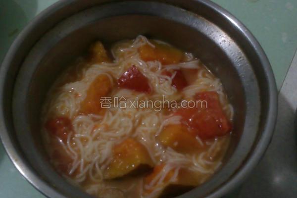 番茄南瓜面线的做法
