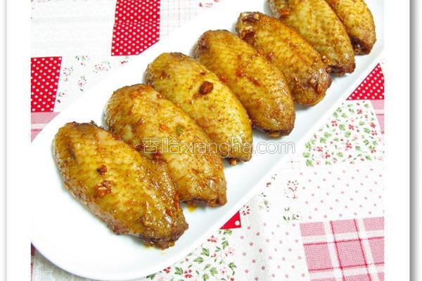 蒜香红椒孜然烤翅的做法