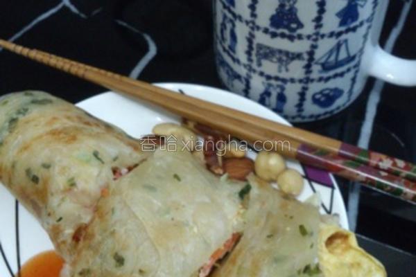 蔬果葱油饼的做法