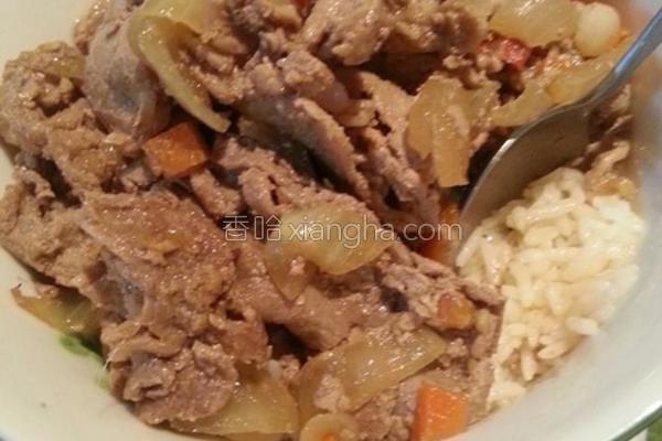 姜烧猪肉盖饭的做法
