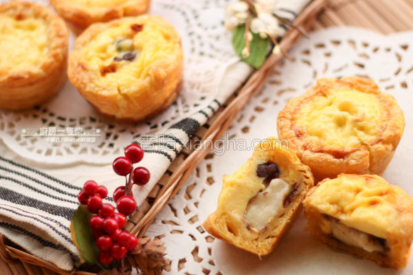 红豆麻糬葡式蛋塔的做法