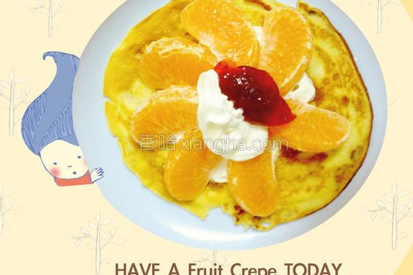 简易法式水果薄饼的做法