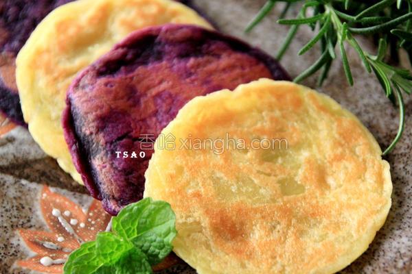 双色地瓜煎饼的做法