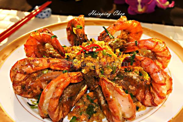 金沙虾的做法