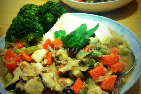 泰式绿咖哩的做法