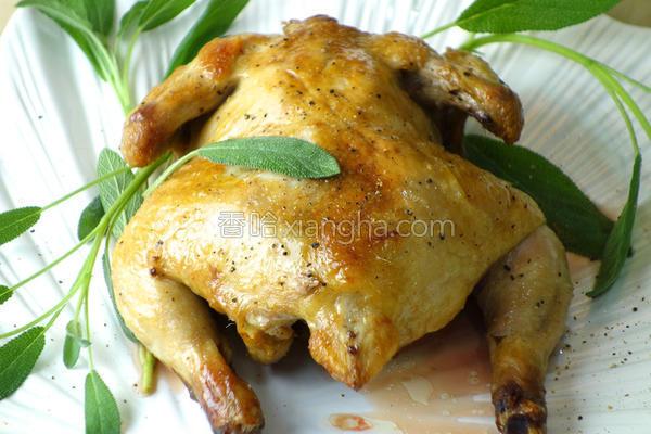 鳀鱼蒜香烤春鸡的做法