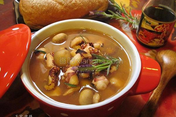 章鱼蘑菇番茄汤的做法