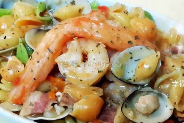双酱海鲜贝壳面的做法