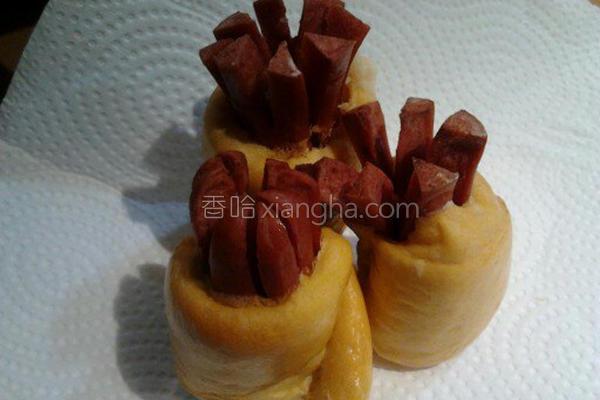 花热狗南瓜面包的做法