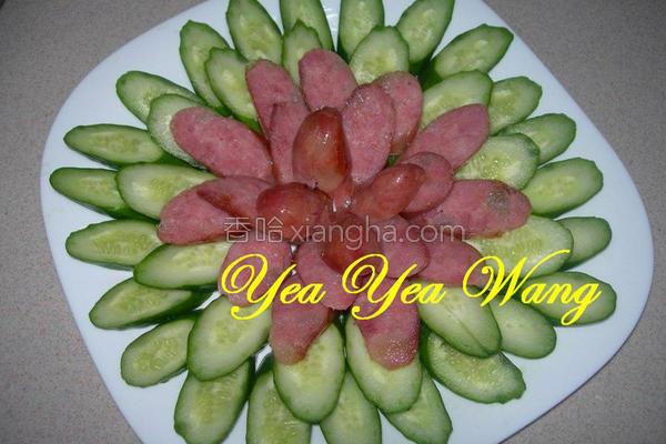 香肠配小黄瓜的做法