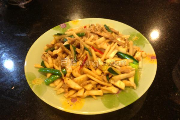 肉丝炒竹笋的做法