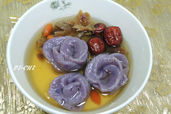紫地瓜汤圆的做法