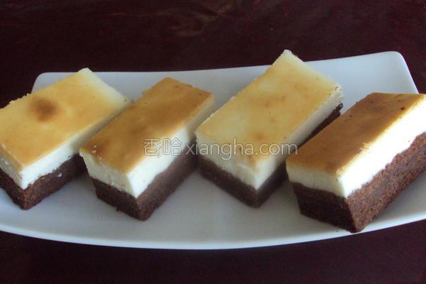 巧克力蛋糕起司条的做法