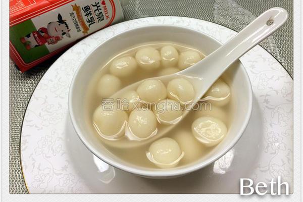 自制手工鲜奶汤圆的做法