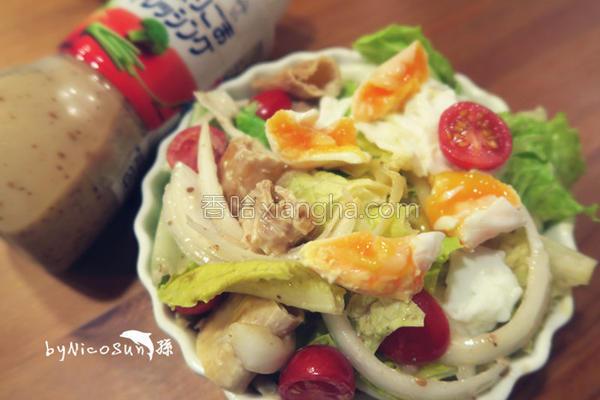 胡麻蛋奶素沙拉的做法