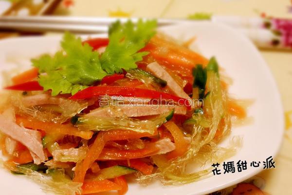 低卡蔬食凉拌银丝的做法