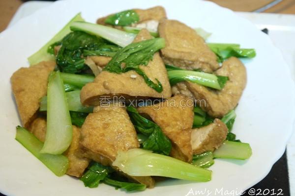 油豆腐炒青菜的做法