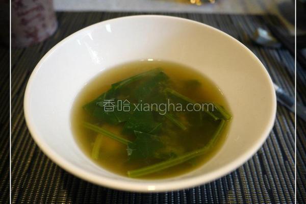 菠菜蛤蜊味噌汤的做法