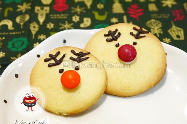 耶诞麋鹿造型饼干的做法