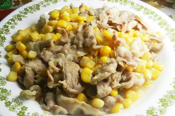 玉米肉片的做法