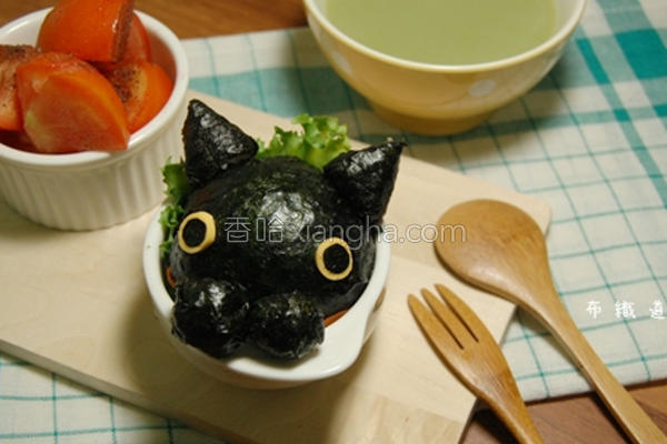 厨纸靴下猫饭团的做法