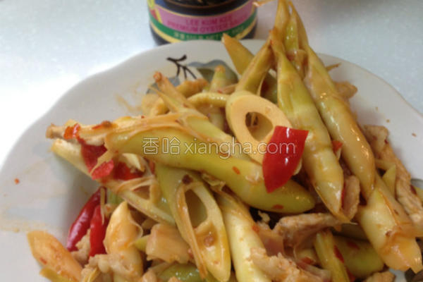 蚝油豆瓣炒箭笋的做法