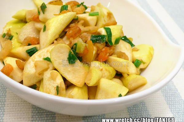 虾米香炒茭白笋的做法