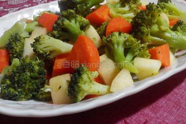 苹果炒花椰菜的做法