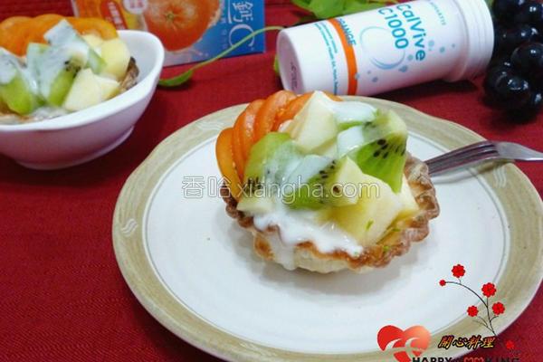 饺皮酸奶沙拉塔的做法