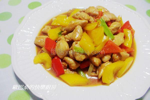 彩椒炒鸡丁的做法
