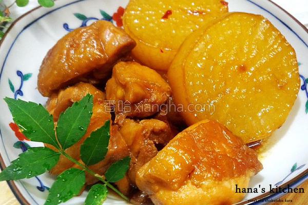 日式萝卜烧鸡的做法