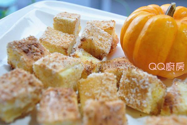 蒜香吐司方块的做法