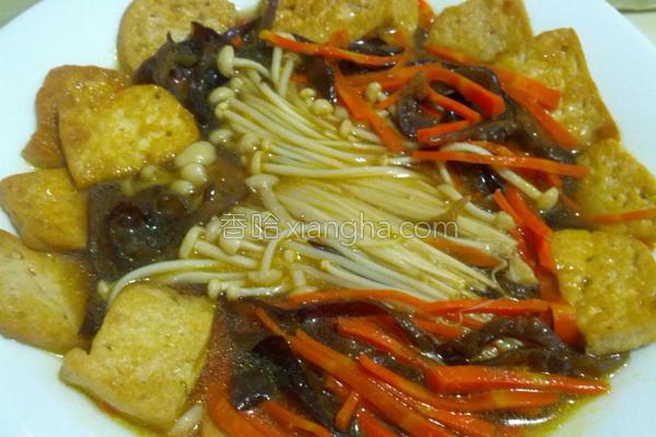 酱烧豆腐菜的做法