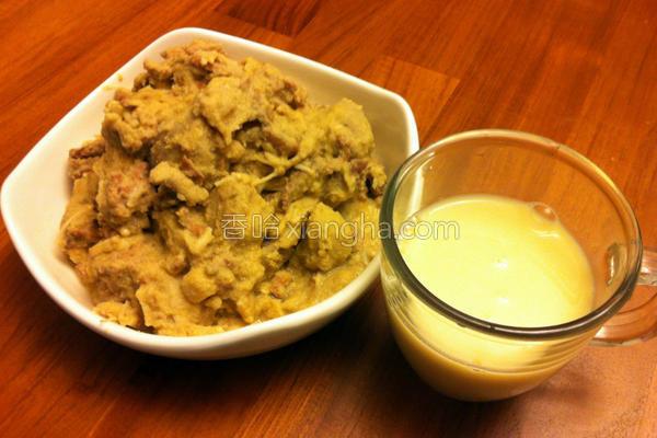 豆渣肉丝芋泥的做法