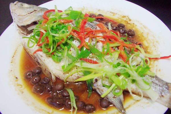 电锅料理树子蒸鱼的做法