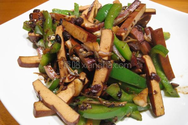 粉猪儿青椒炒豆干的做法